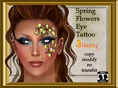 Spring Flowers Eye Tattoo