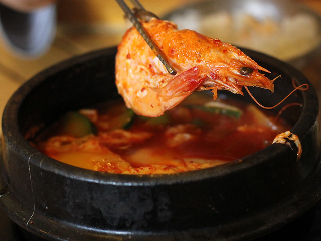 Korean hot seafood stew