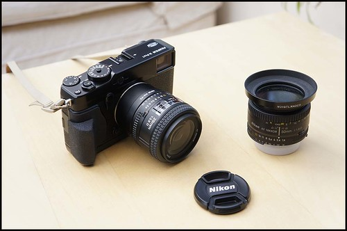Fuji X-Pro 1 Nikon 28mm f/2.8D and 50mm f/1.8D lenses