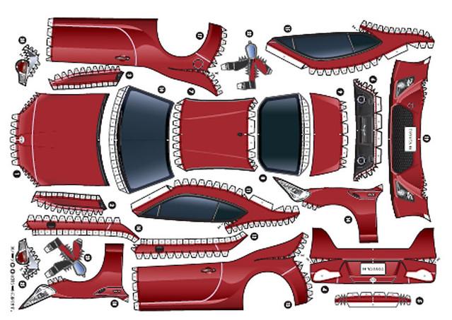 Toyota GT86 Maqueta recortable