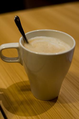 話說邊吃著包喝一口即磨咖啡也蠻不錯的(笑)
