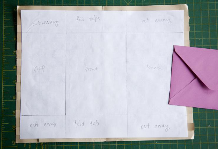 DIY Weaved Paper Envelopes