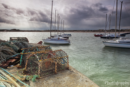 Pots, Boats And Rays by Dave Brightwell