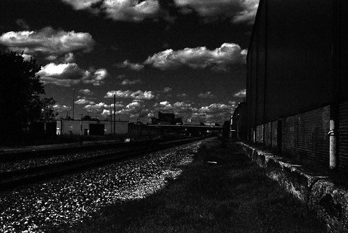 Contrasty Akron From the Tracks