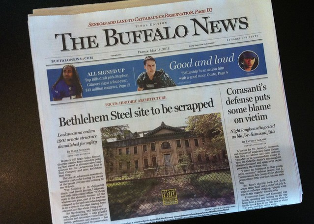 Buffalo News - Bethlehem Steel site to be scrapped
