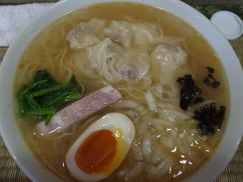 ra120518東京いまむら 鯵塩の魚群ワンタン麺 大盛
