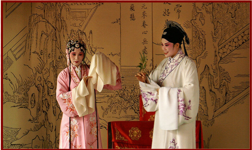 A scene from the K'un- ch'ü play The Peony Pavilion