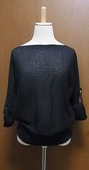 紺リネン混ルーズサマーセーター