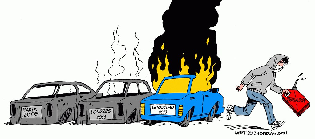 Stockholm riots, por Carlos Latuff