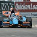 Alex Tagliani practices for the Chevrolet Indy Dual in Detroit