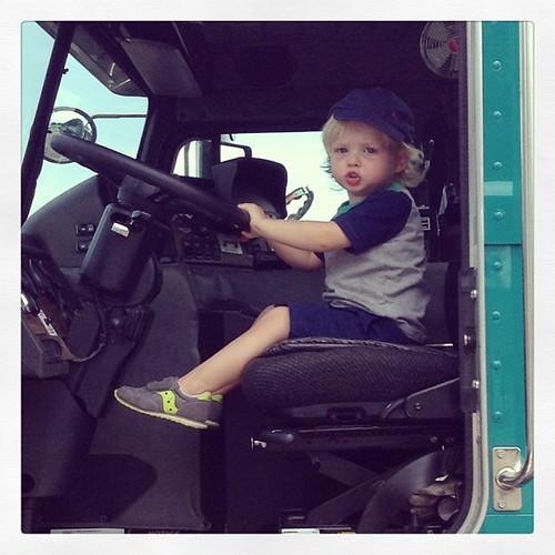 Driving the trash trucks