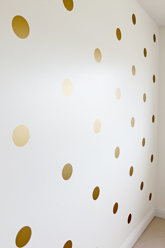 Gold Polka Dot Walls