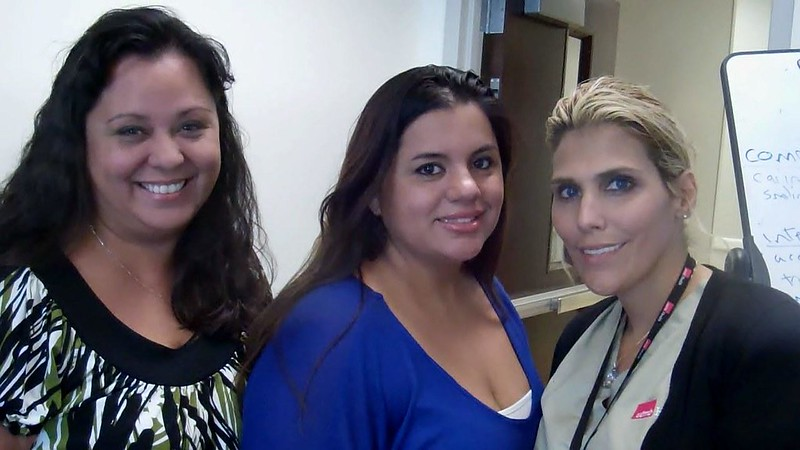 Delia Martinez—PAS at the Access Center, Barbara Hernandez—MA at PCP Pediatrics, and Kryliny Agis—MA also with PCP Pediatrics