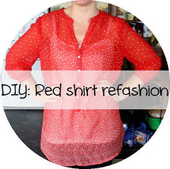 DIY: Red shirt refashion