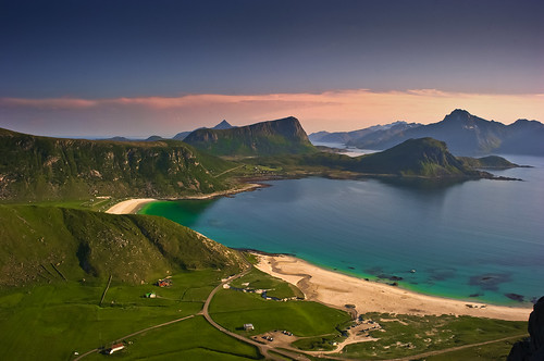 Beautiful beaches of Lofoten