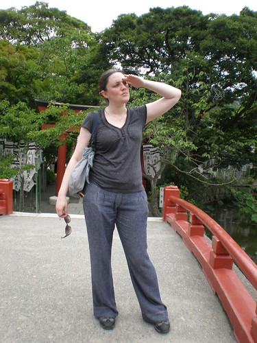 Lixie at Kamakura Shrine