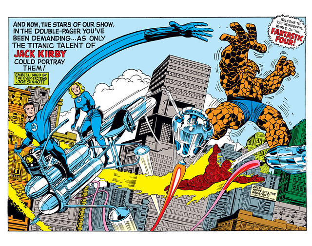 Fantastic Four Annual 5 double page pinup Jack Kirby 1967 digital
