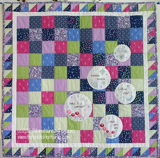 """Twinkle, twinkle baby quilt."" It's a quilt + embroidery project."