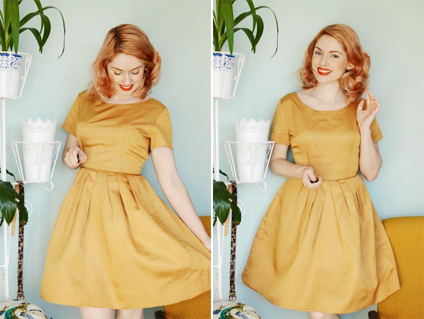 gold dress d