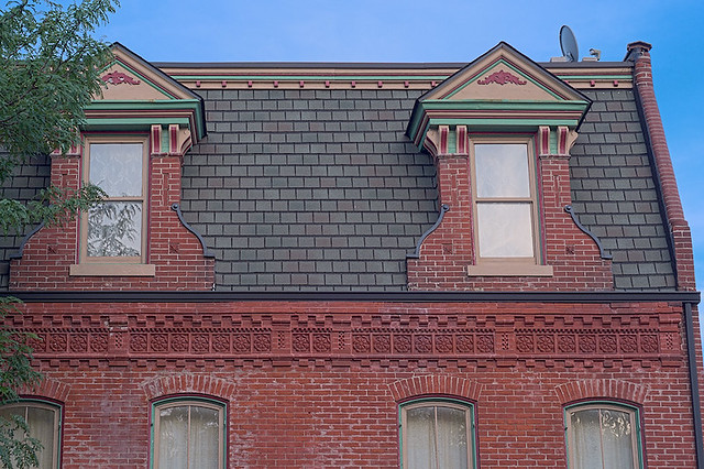 Soulard Neighborhood, in Saint Louis, Missouri, USA - Mansard roof