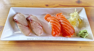 Yellowtail and Salmon Sushi
