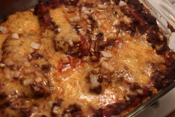 Cheese Enchiladas with Chile Con Carne - Amateur Gourmet