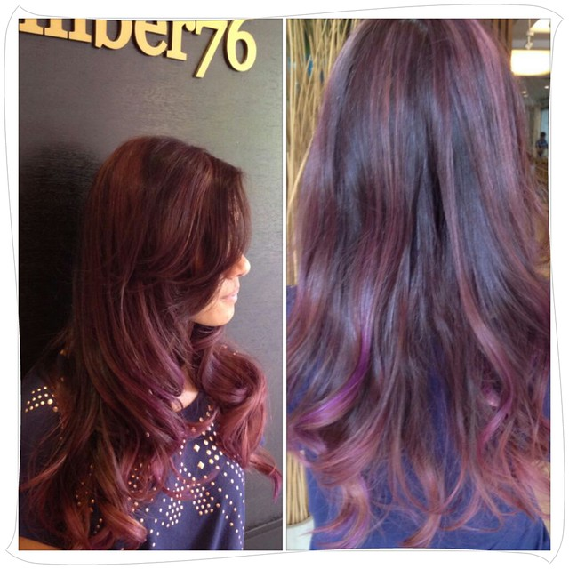 Brown Hair With Purple Highlights Underneath | www.imgkid ...