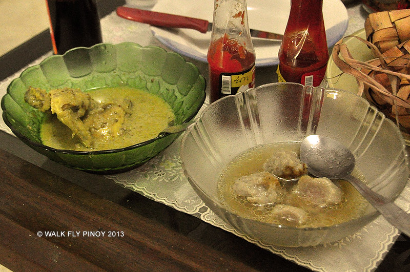 Opor ayam and bakso