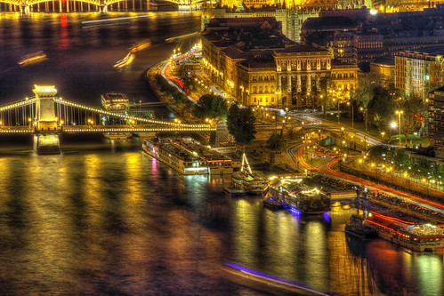 bridge color beautiful night dark colorful europe hungary view budapest tourist clear colored magyar danube hdr hungarian controtono