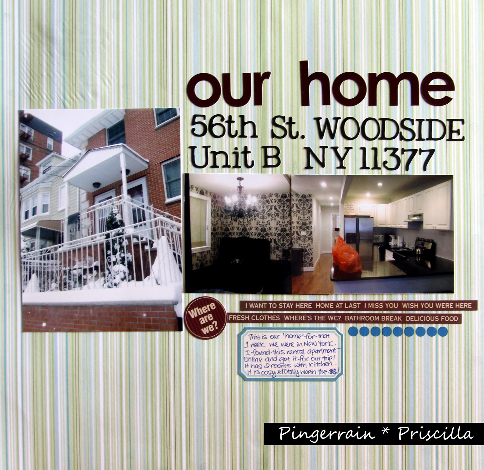 Scrapbook Page: Woodside Residence