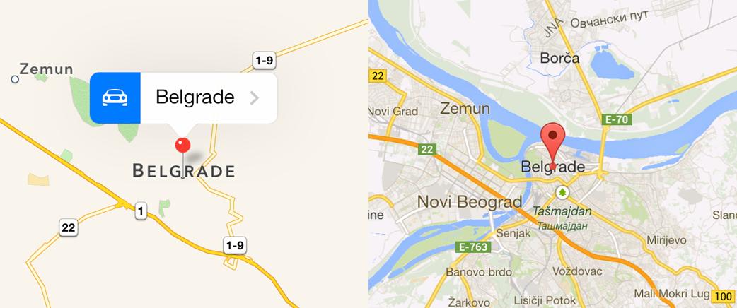 Belgrade comparison