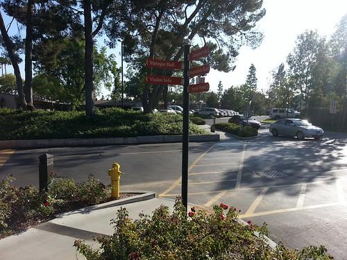 Biola University directional signs