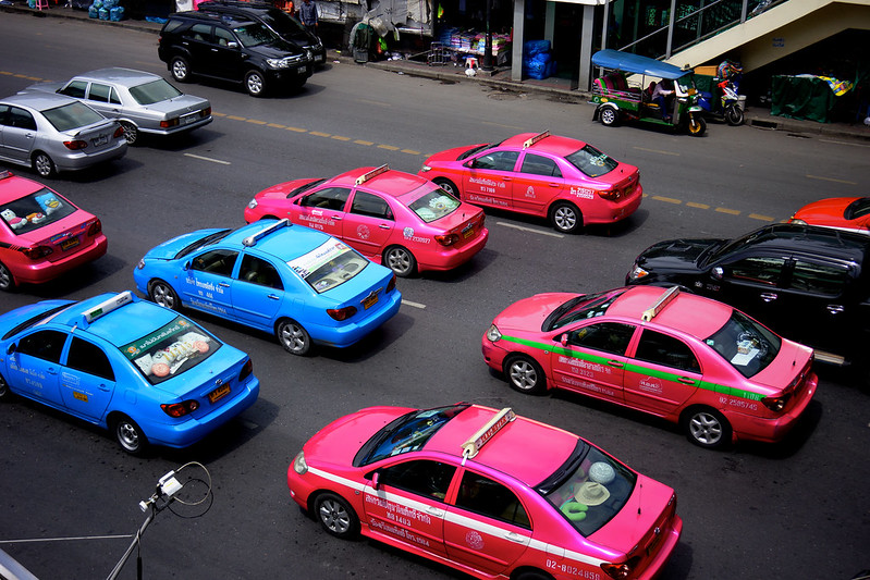 Blue & Pink Taxi