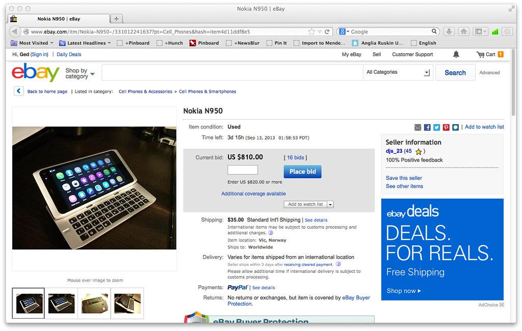 eBay - Nokia N950 part one