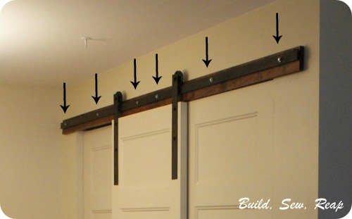Diy Bypass Barn Door Hardware bypass barn doors. diy double sliding bypass barn doors