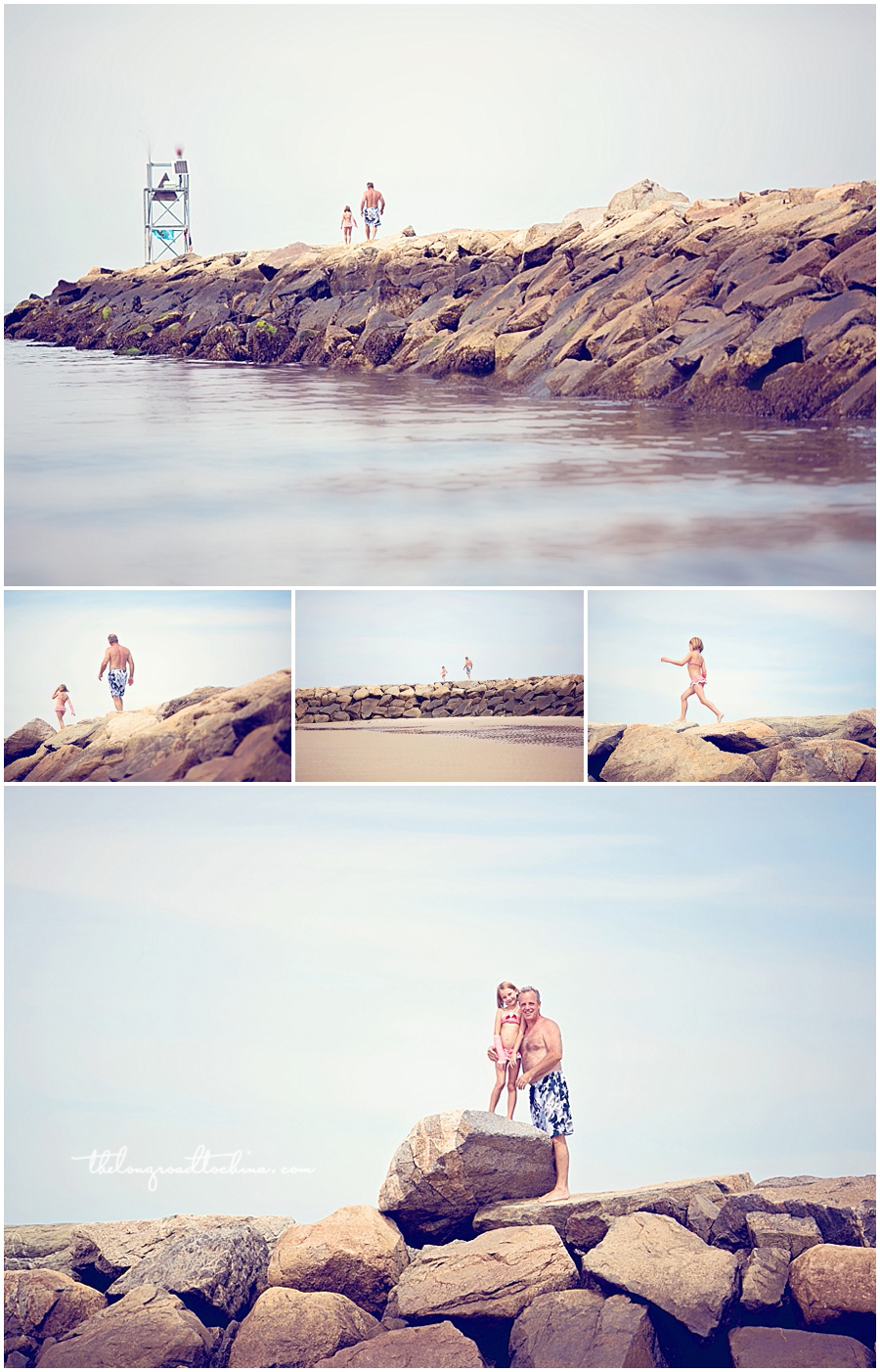 Hopping Rocks on the Jetty Collage 1