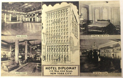 Hotel Diplomat (110 West 43rd Street, NYC, NY) Postcard