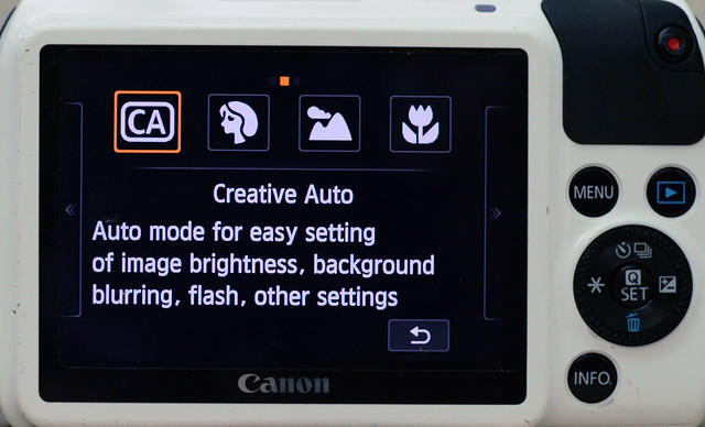 Settings of Canon EOS M for pinhole photography 1/4