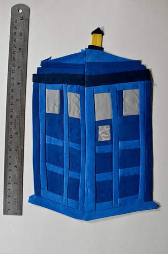 Dr. Who TARDIS Applique Piecework
