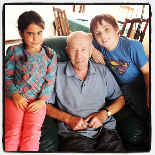 I love this photo. The children with their great grandfather.
