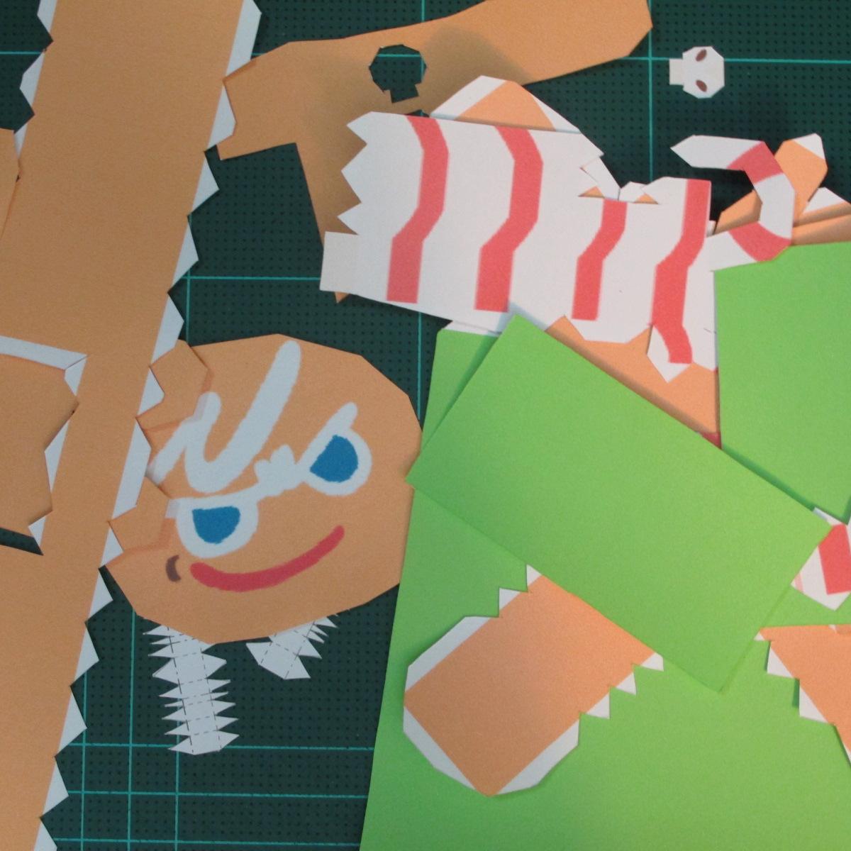 วิธีทำโมเดลกระดาษตุ้กตาคุกกี้รัน คุกกี้ผู้กล้าหาญ แบบที่ 2 (LINE Cookie Run Brave Cookie Papercraft Model Version 2) 001