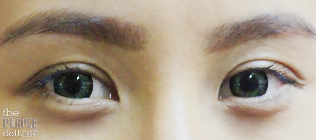 Asian Lashes with L'Oreal Miss Manga Mascara (After 8 hours)