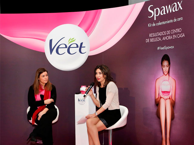 Veet Spawax, Leticia Carrera y Bárbara Yuste