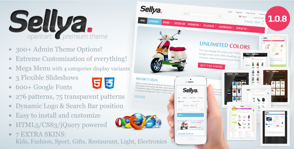 Sellya v1.0.8.2 - Multi-Purpose Responsive OpenCart Theme
