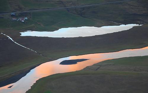 helgavatn farm vatnsdalur vatnsdalsá river húnavatnssýsla pond sunset reflection iceland october 2016 landscape