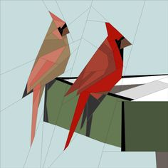Cardinal Pair by Jan