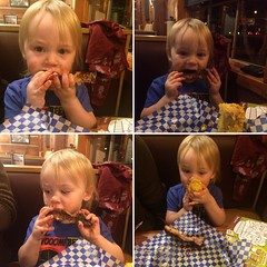 He's been eating ribs since he was 9 months old. I love my baby carnivore.