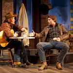 Stephen Lee Anderson (as Virgil Blessing) and Noah Bean (as Bo Decker) in the Huntington's production of William Inge's BUS STOP, directed by Nicholas Martin. September 17 — October 17, 2010 at the Avenue of the Arts / BU Theatre. Photo: T. Charles Erickson