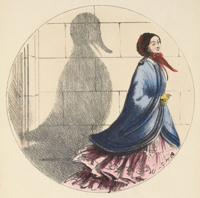A little duck (1850s coloured lithograph by CH Bennett)