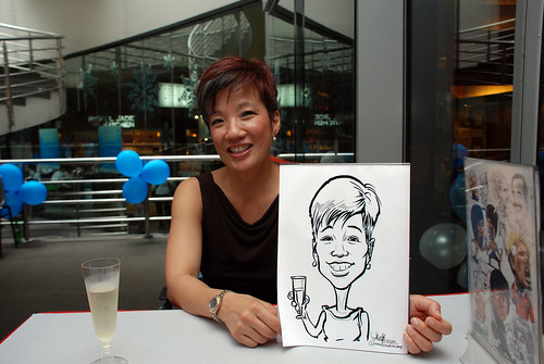 Caricature live sketching for Singapore Suntec City Annual Party - 22